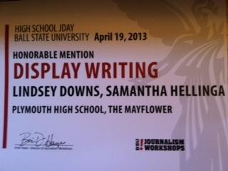 Display Writing Winners